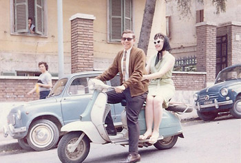 Phyllis and John in Rome